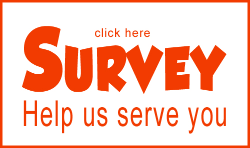 Please take our survey! We value your insight and want to bring you the services and travel packages you want to see. Help us help you!