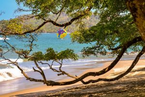Picture of a beautiful sandy beach at Manuel Antonio