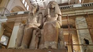 Picture of statues in an Egyptian museum