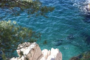 Picture of the beautiful blue-green water of the Mediterranean Sea
