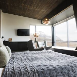 Image of an accessible room at the Fosshote Glacier Lagoon Hotel