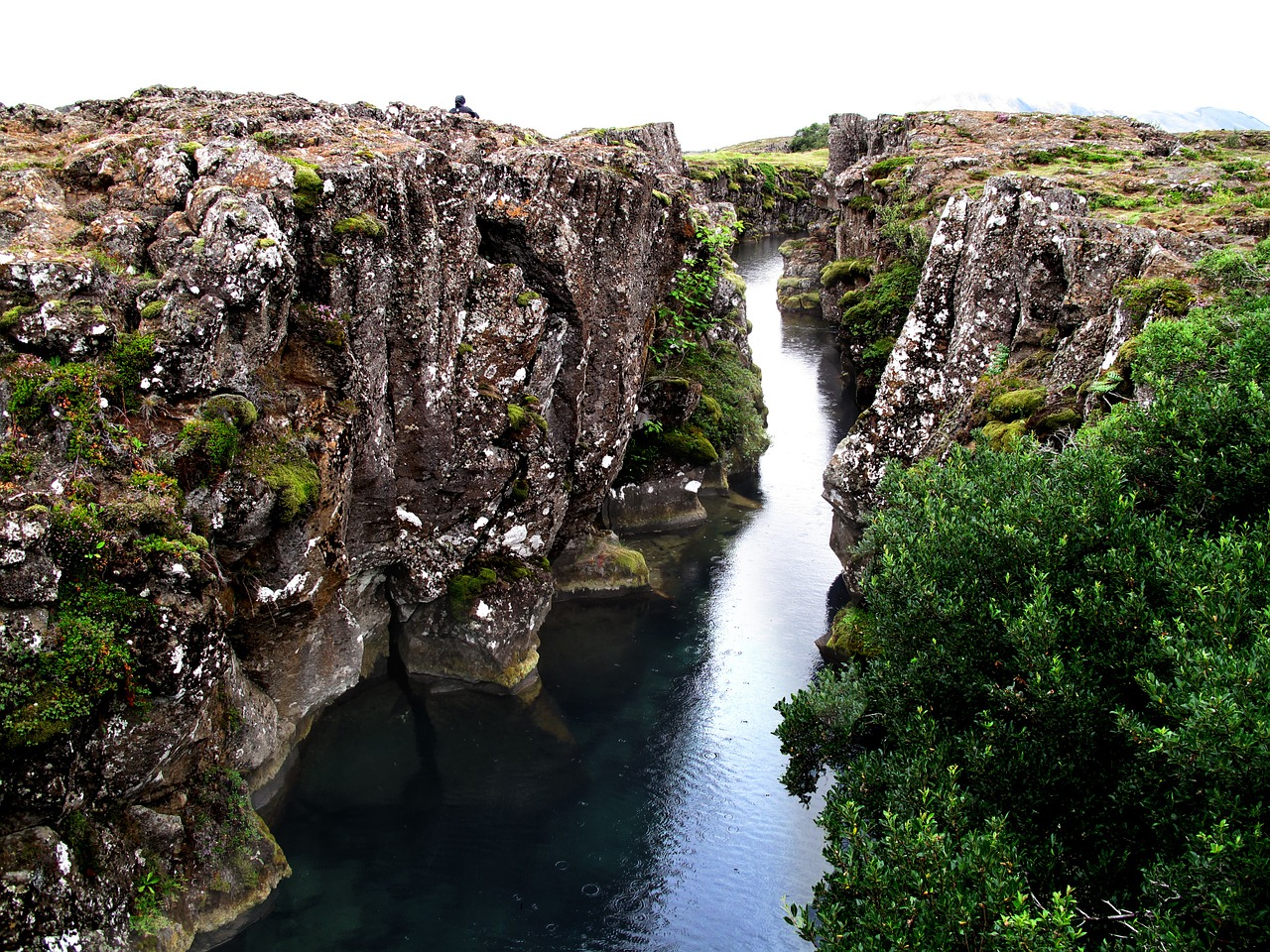 Image of the river in Thingvellir National Park