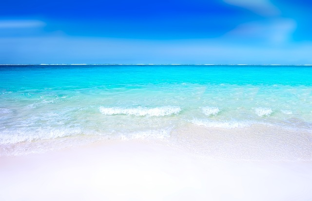 Imagine relaxing on this White sandy beach under a deep blue sky