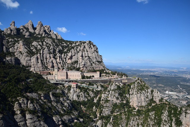 Picture the rocky crags of Montserrat a UNESCO world heritage site