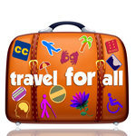 Travel for all logo that's been sized to 150 x 150