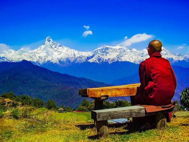 Stunning mountains of the Annapurna mountains in Nepal