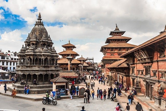 Picture of the very accessible Patan Durbar Square is a fine speciman of the