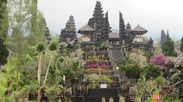 Picture of mother temple' Besakih on the slopes of Mount Agung