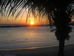 Picture of the sunset in Curacao
