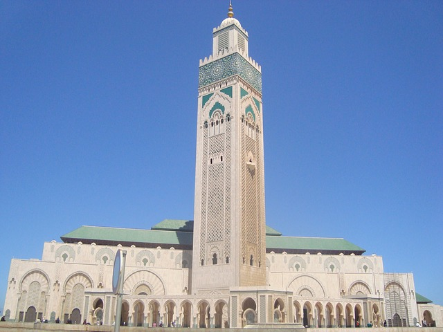 Picture of the mosque in Casablanca Morocco