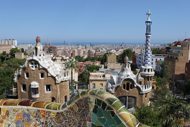 Picture of the delightful Guell Park in Barcelona Spain