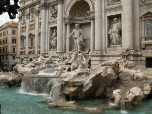 The Trevi Fountain in Rome Italy is a file example of statuary and design