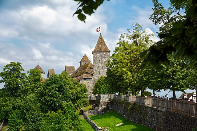Stunning picture of the spires at Rapperswil Castle in Zurich