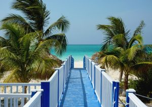 The sea meets the sky in the distance in this beachy setting in Cuba