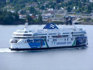 BC Ferry outside of the Nanaimo Harbour