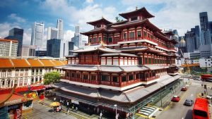Buddha Tooth Relic Temple in Singapore stands proudly for all to see.
