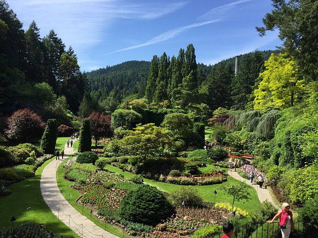 Butchart Gardens in Victoria BC are alive with color all year round