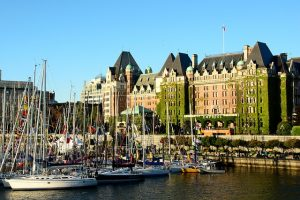 The inner harbour in Victoria is always full of life